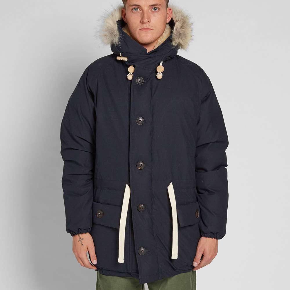c90aa9f34e33 Nigel Cabourn Authentic Everest Parka in Blue for Men - Lyst