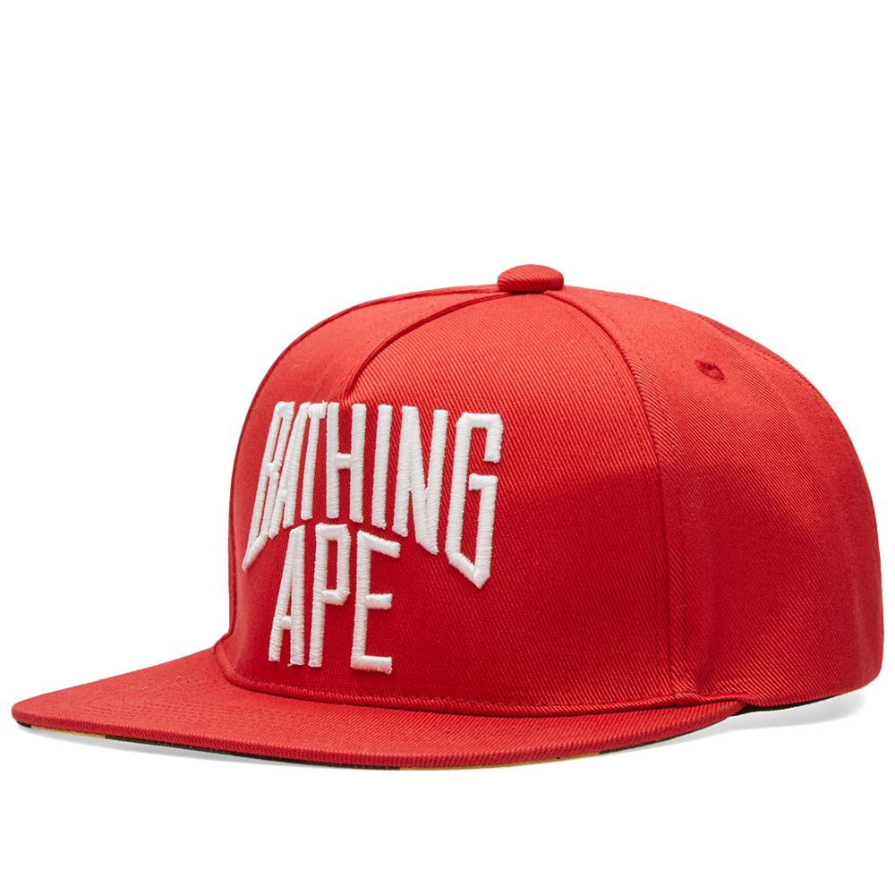 a103d4dbce7e4 A Bathing Ape Nyc Logo Snapback Cap in Red for Men - Lyst