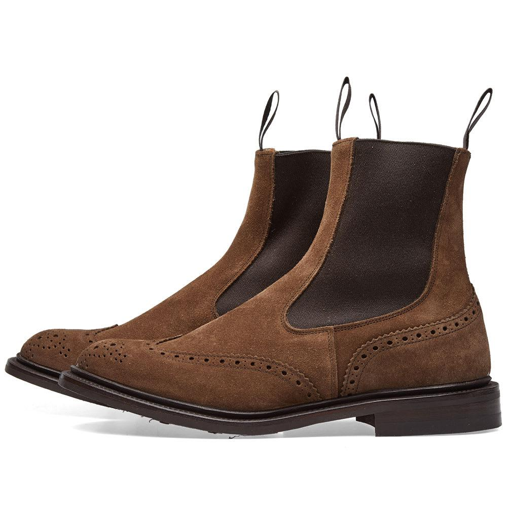Stow Burnished-leather Brogue Boots - Dark brownTrickers xrUmoUzccQ