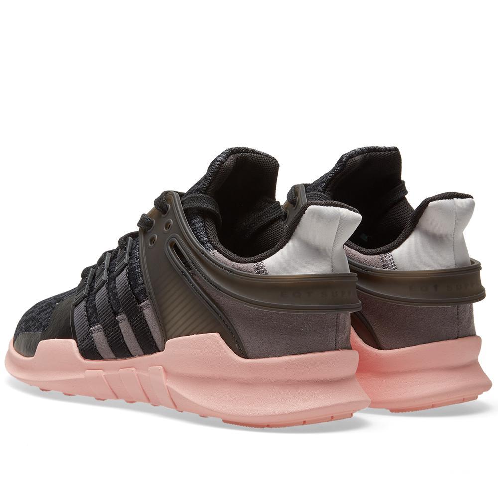 super popular 56457 1842a ... get lyst adidas originals black pink equipment support adv sneakers  a650f dce0e