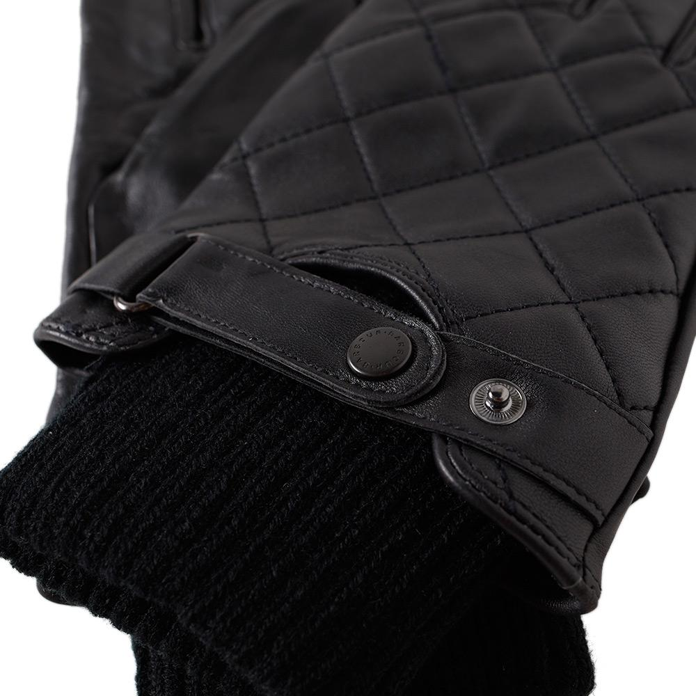 Barbour Quilted Leather Glove in Black for Men - Save 65% | Lyst : barbour quilted gloves - Adamdwight.com