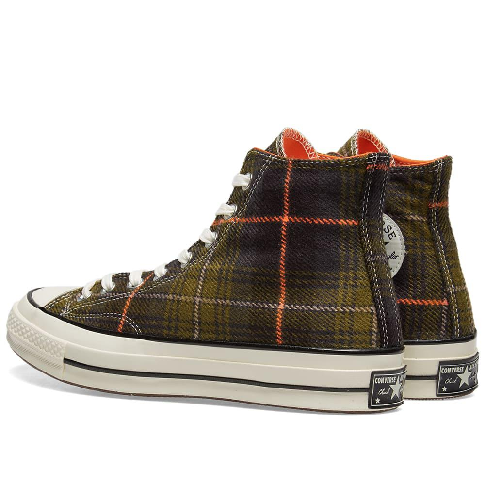 8dd258807c28 Converse - Green Chuck Taylor 1970s Hi Luxury Plaid for Men - Lyst. View  fullscreen