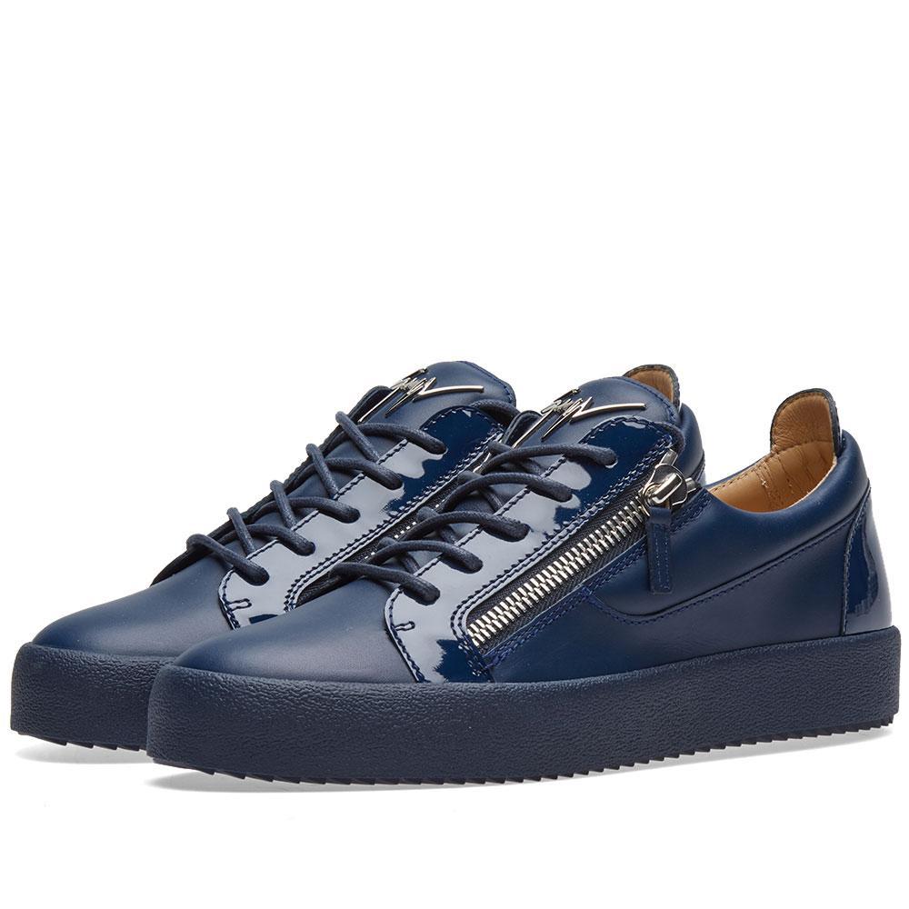 abd37cc8cf9 Lyst - Giuseppe Zanotti Panelled Double Zip Low Sneaker in Blue for Men