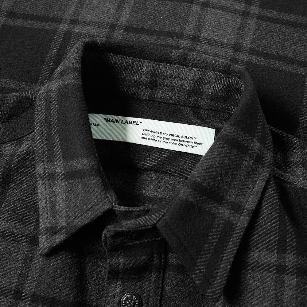 5163d00d3de7 Lyst - Off-White c o Virgil Abloh Quote Flannel Shirt in Gray for Men