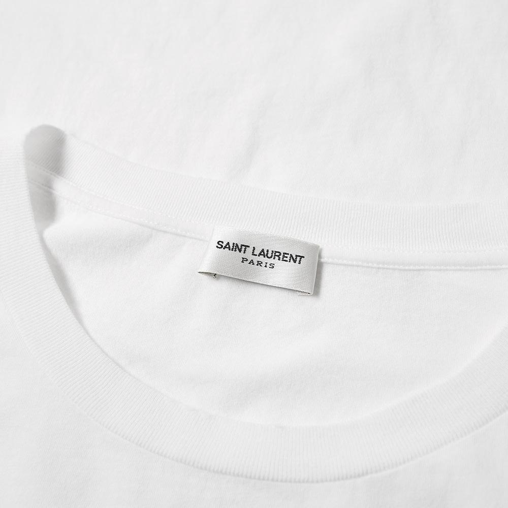 efce0e517f2 Saint Laurent Distressed Heaven Tee in White for Men - Lyst
