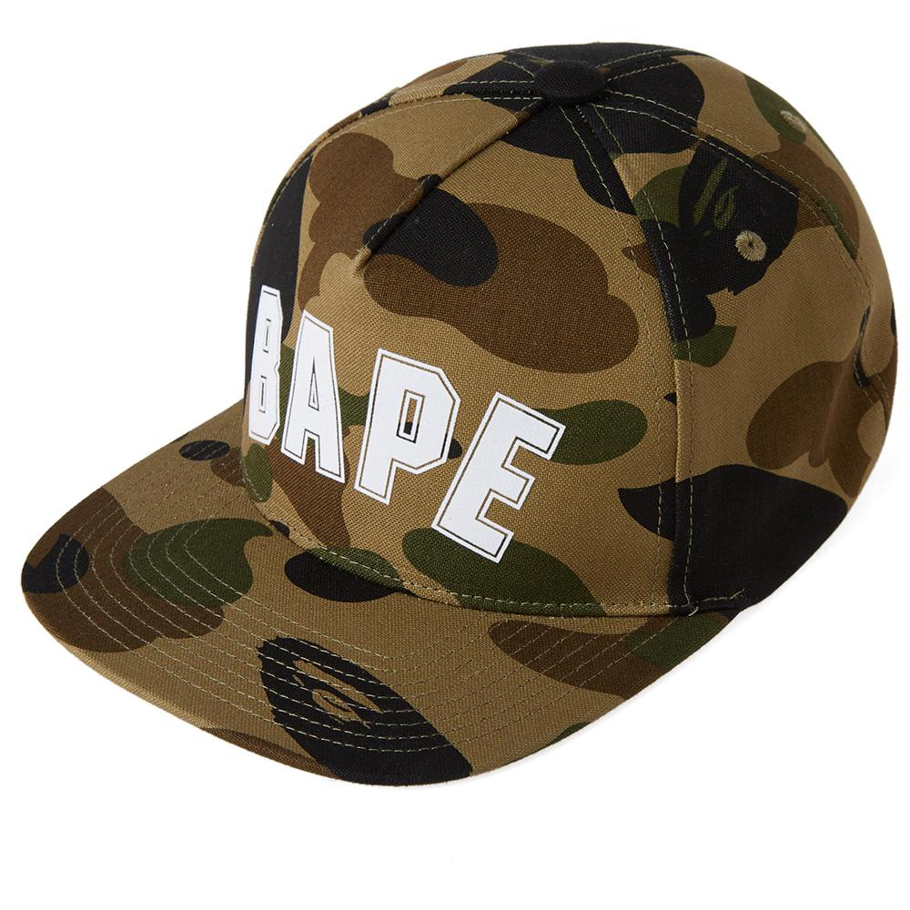 597f5bb658ccc A Bathing Ape 1st Camo Bape Outline Snapback in Green for Men - Lyst