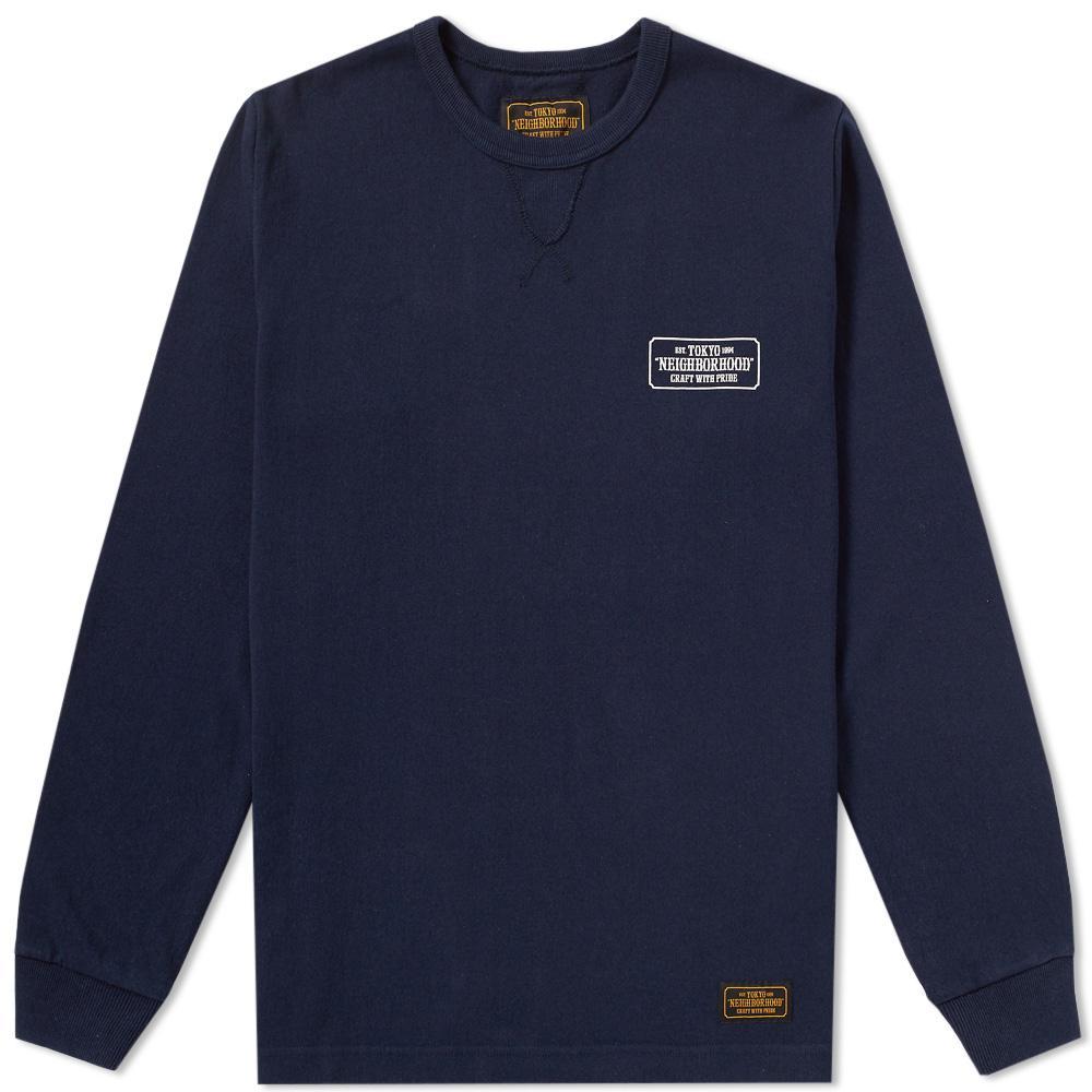 Neighborhood Long Sleeve C.w.p. Tee in Blue for Men | Lyst