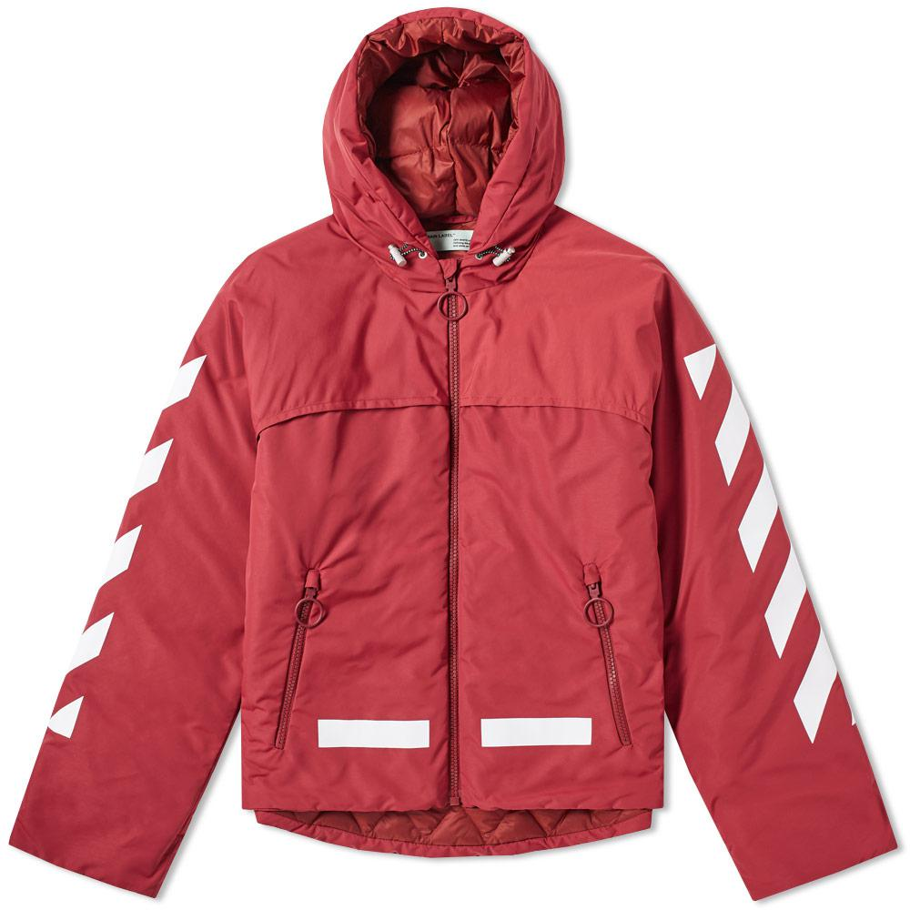 54a7847ac279 Lyst - Off-White c o Virgil Abloh Diagonal Arrows Down Jacket in Red ...