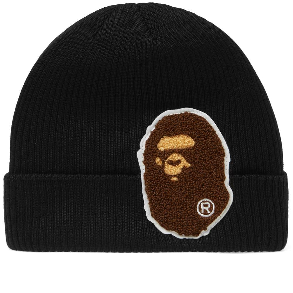 0eea28a6666 Lyst - A Bathing Ape Big Ape Head Knit Cap in Black for Men