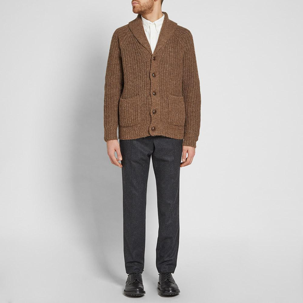 0e3e70eb2e7c Polo Ralph Lauren Shawl Alpaca Cardigan in Brown for Men - Lyst