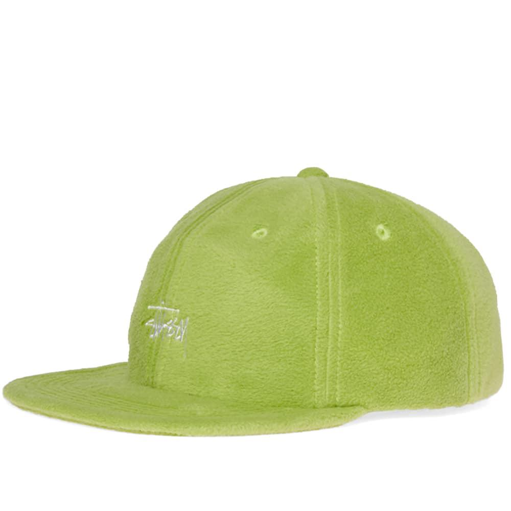 b229c26791d Stussy Polar Fleece Strapback Cap in Green for Men - Lyst