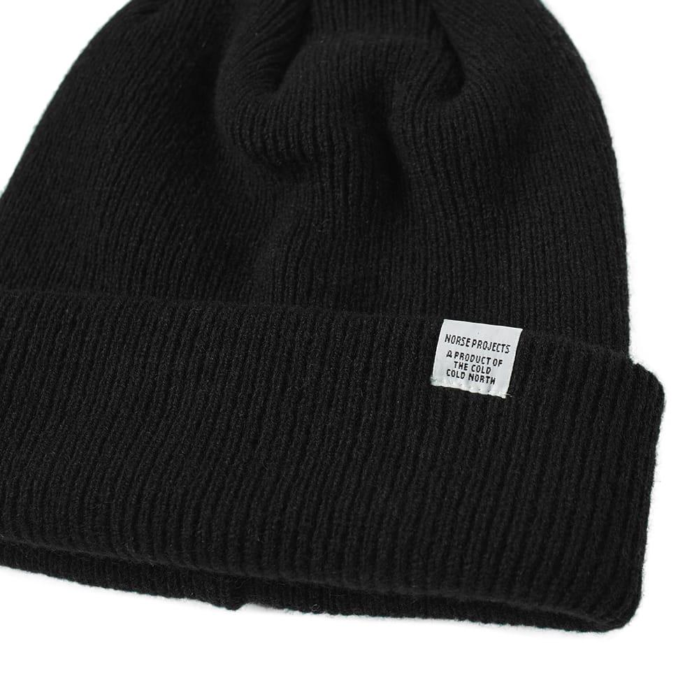 629c8d67b Norse Projects Beanie in Black for Men - Lyst