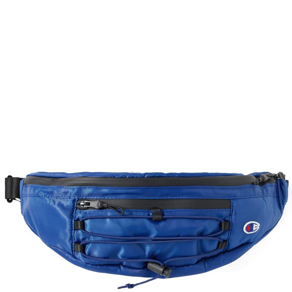 00dbf6de4d31 Champion Large Script Logo Waist Bag in Blue for Men - Save 42.0% - Lyst