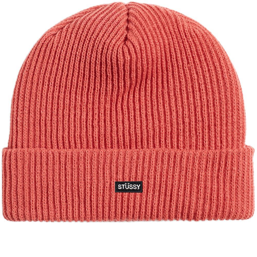 19c323fdbec Lyst - Stussy Small Patch Watchcap Beanie in Pink for Men
