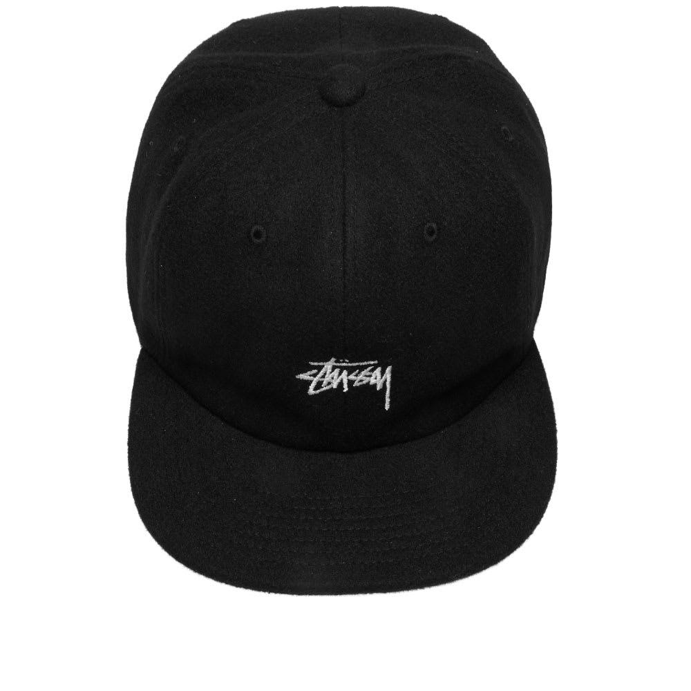 77c4fefd Stussy - Black Melton Wool Strapback Cap for Men - Lyst. View fullscreen