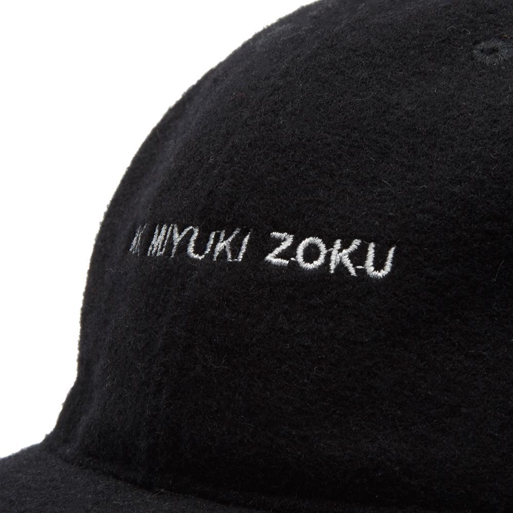 MKI Miyuki-Zoku - Black Wool Peak Baseball Cap for Men - Lyst. View  fullscreen 0d92db50bec7