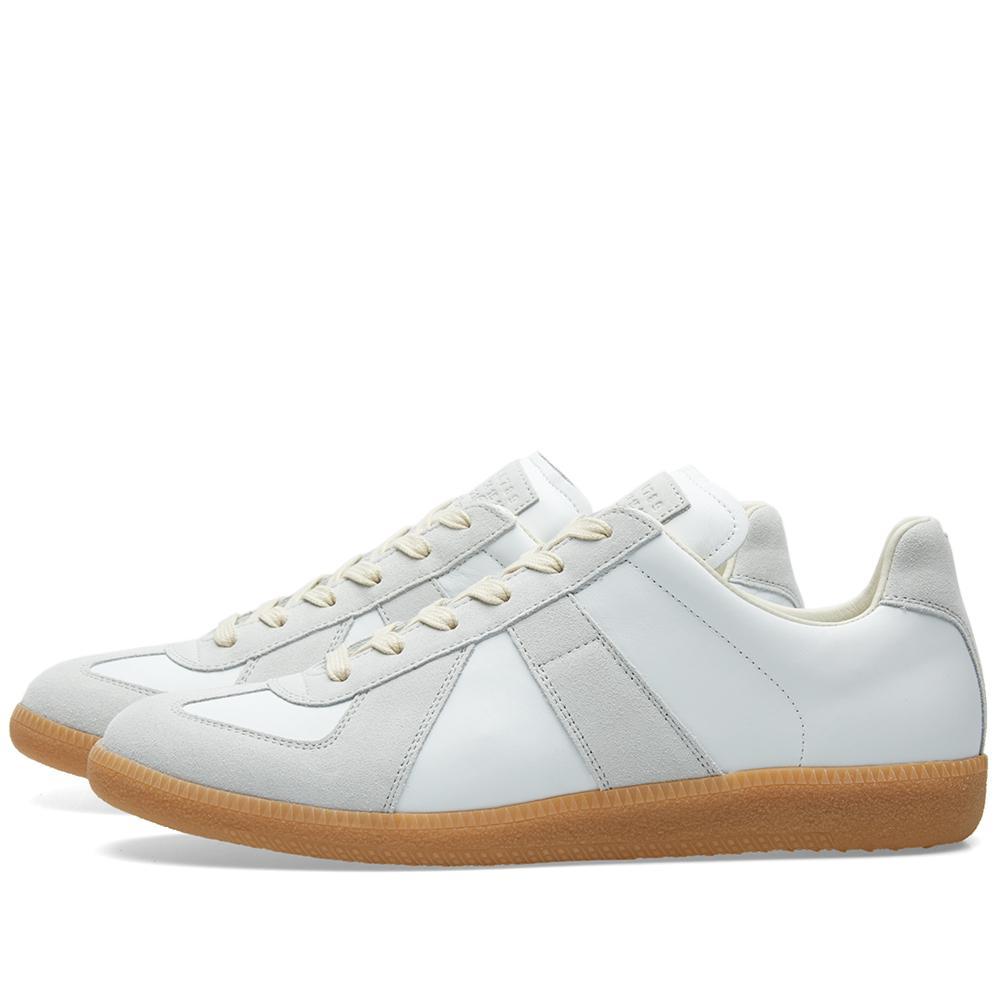 Lyst maison margiela 22 replica low sneaker in white for Maison margiela 22