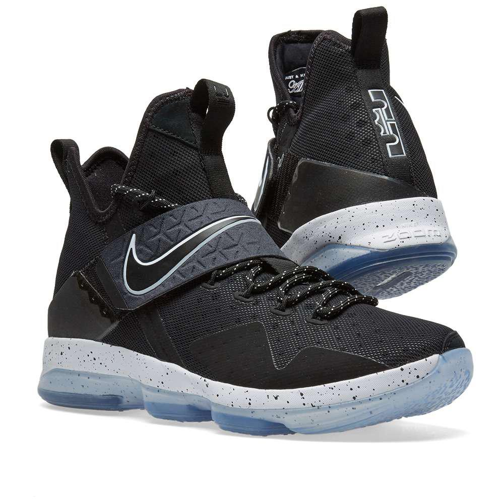 ce0778ebe6b1 ... where can i buy lyst nike lebron 14 black ice in black for men c4df5  557df