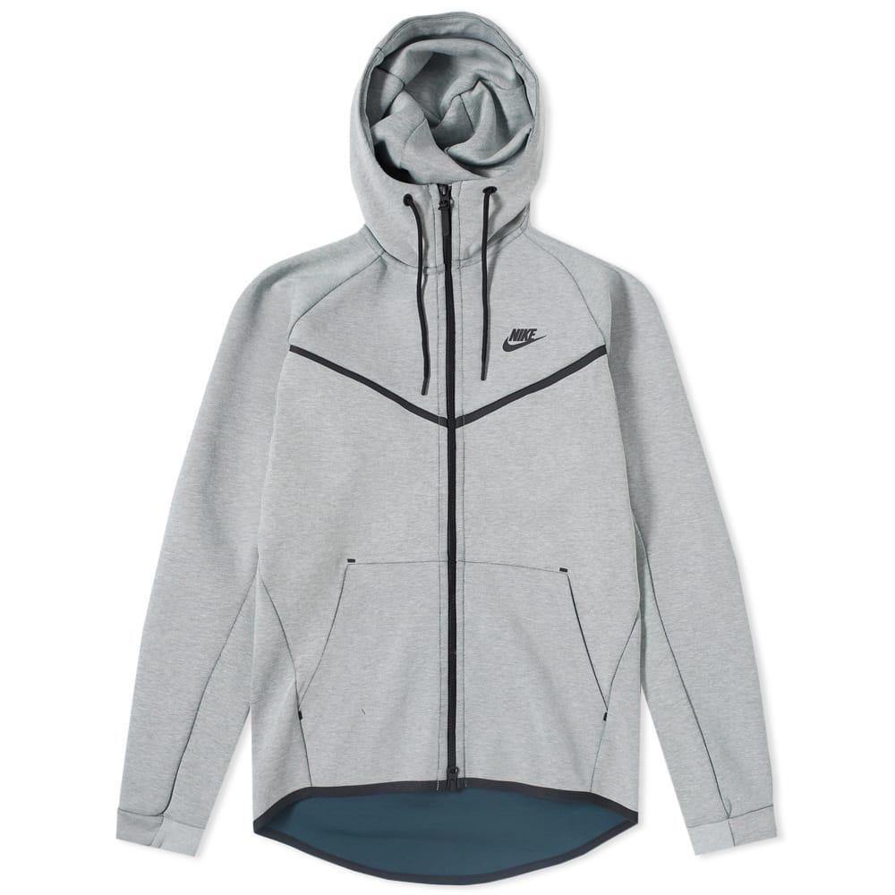 242af0f0401b6 Lyst - Nike Tech Fleece Windrunner Hoody in Gray for Men