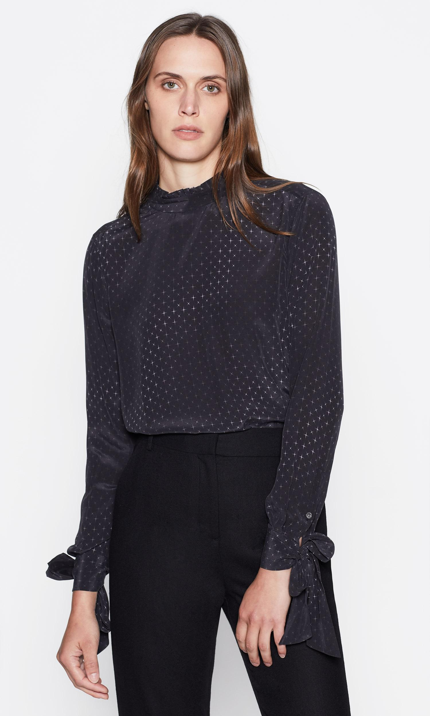 46f23390104ef3 Equipment Aurora Silk Shirt in Black - Lyst