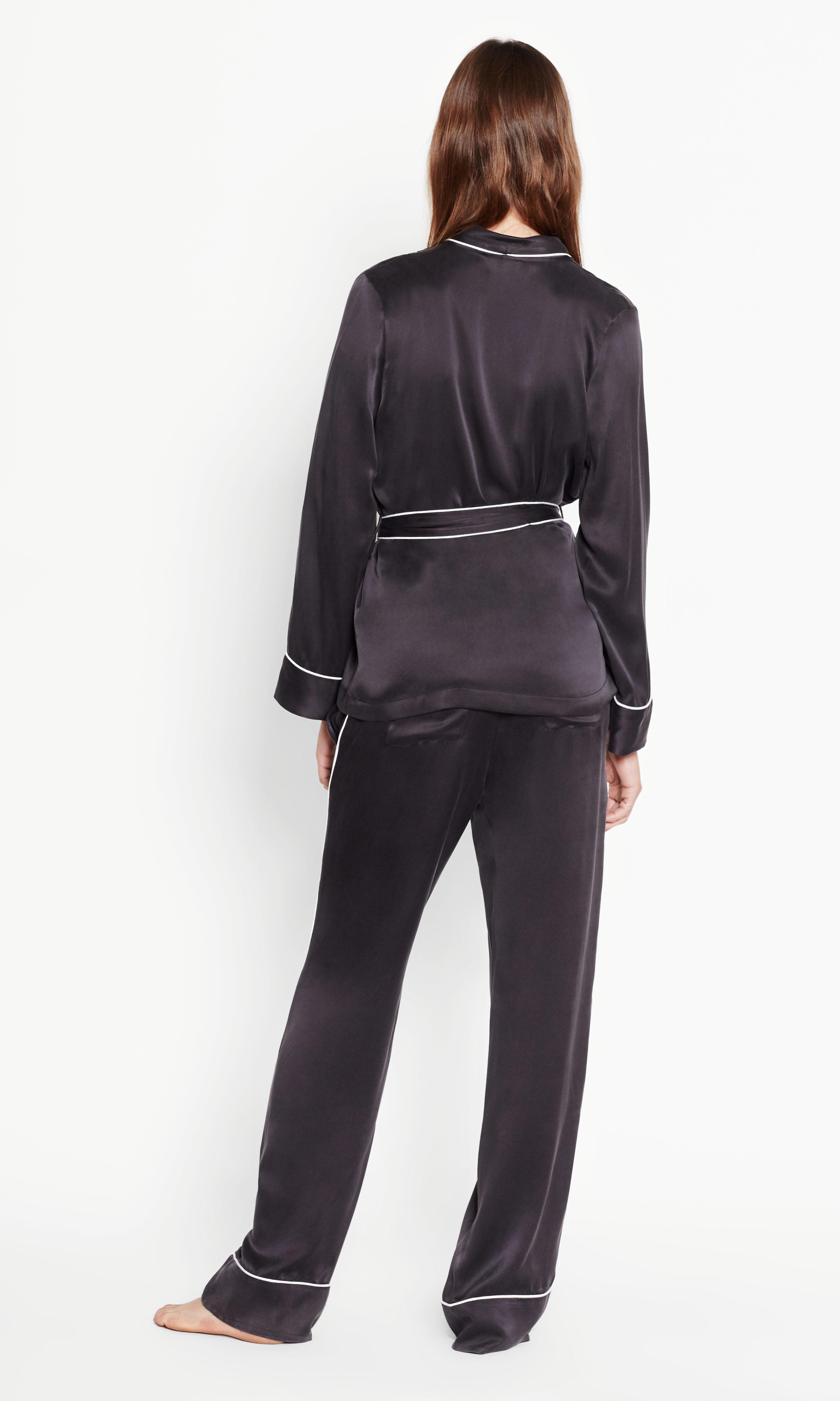 6b62ad5812 Lyst - Equipment Odette Satin Pajama Set in Black