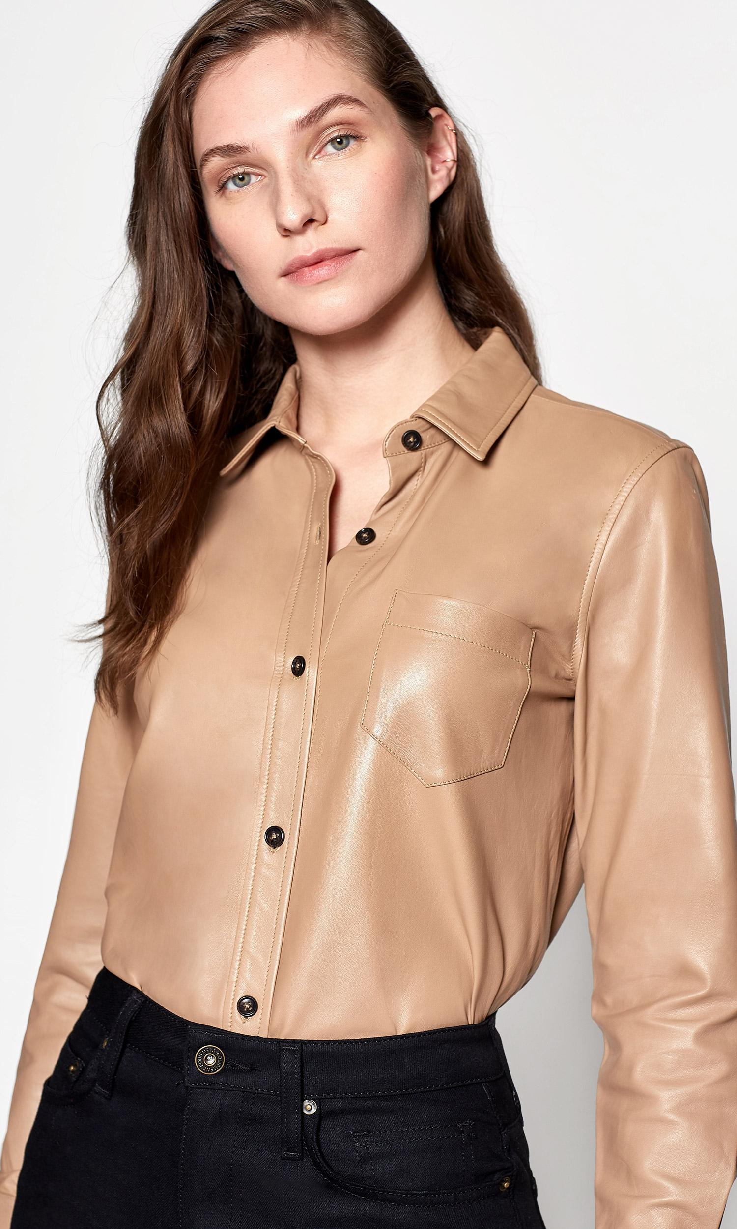 f9cead08d55e0 Equipment. Women s Fanette Leather Shirt