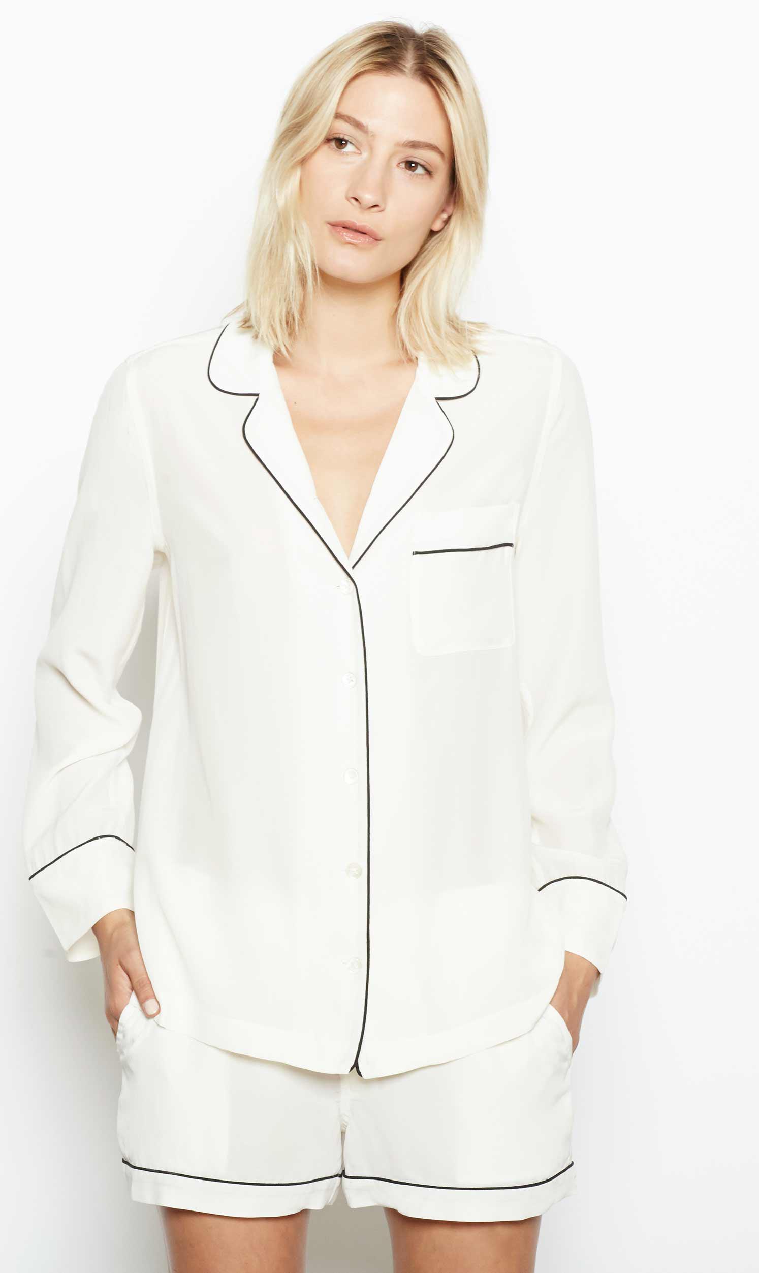 0e633eee70 Equipment Lillian Short Pajama Set in White - Lyst