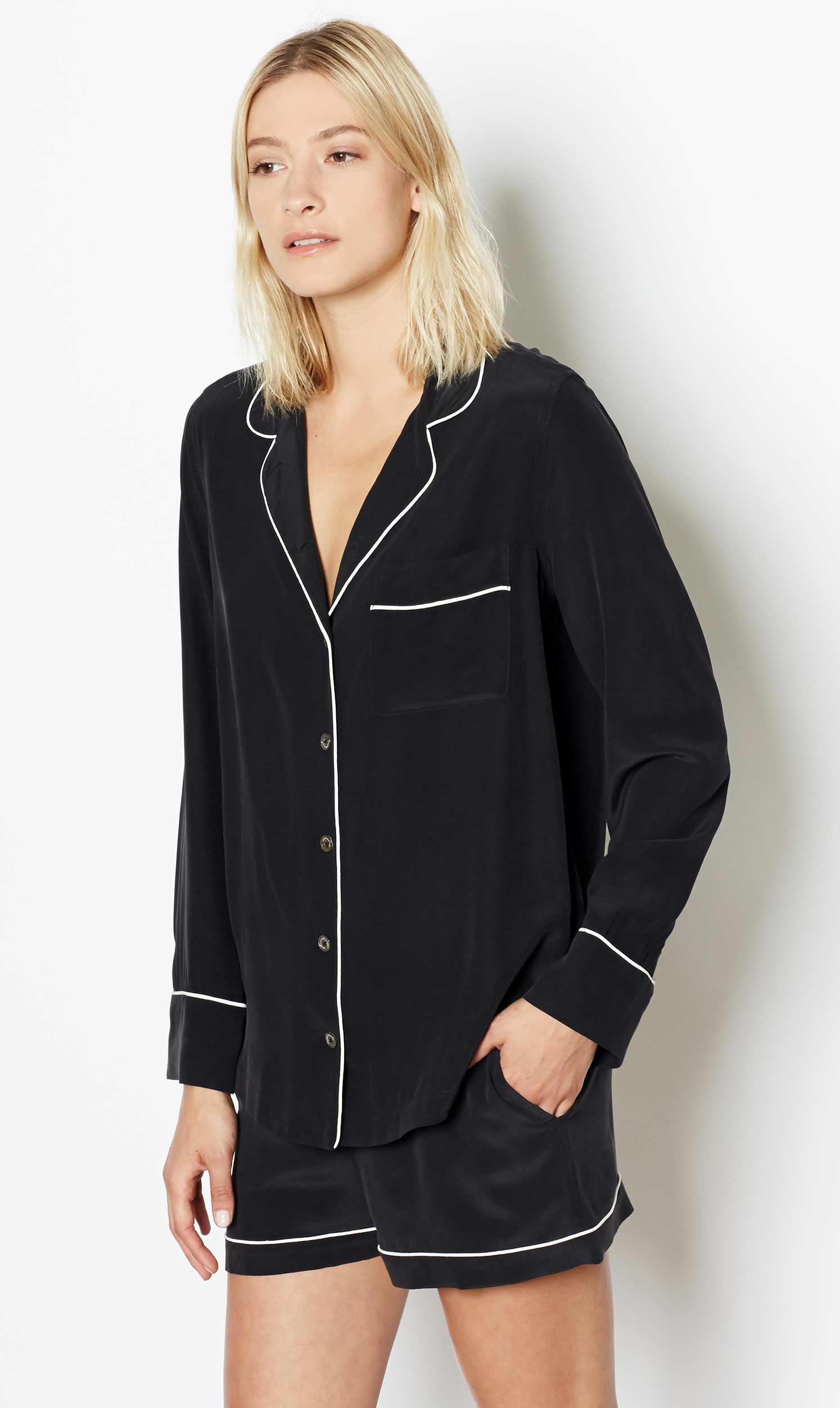 5eea0724c1 Lyst - Equipment Lillian Silk Pajama Set in Black