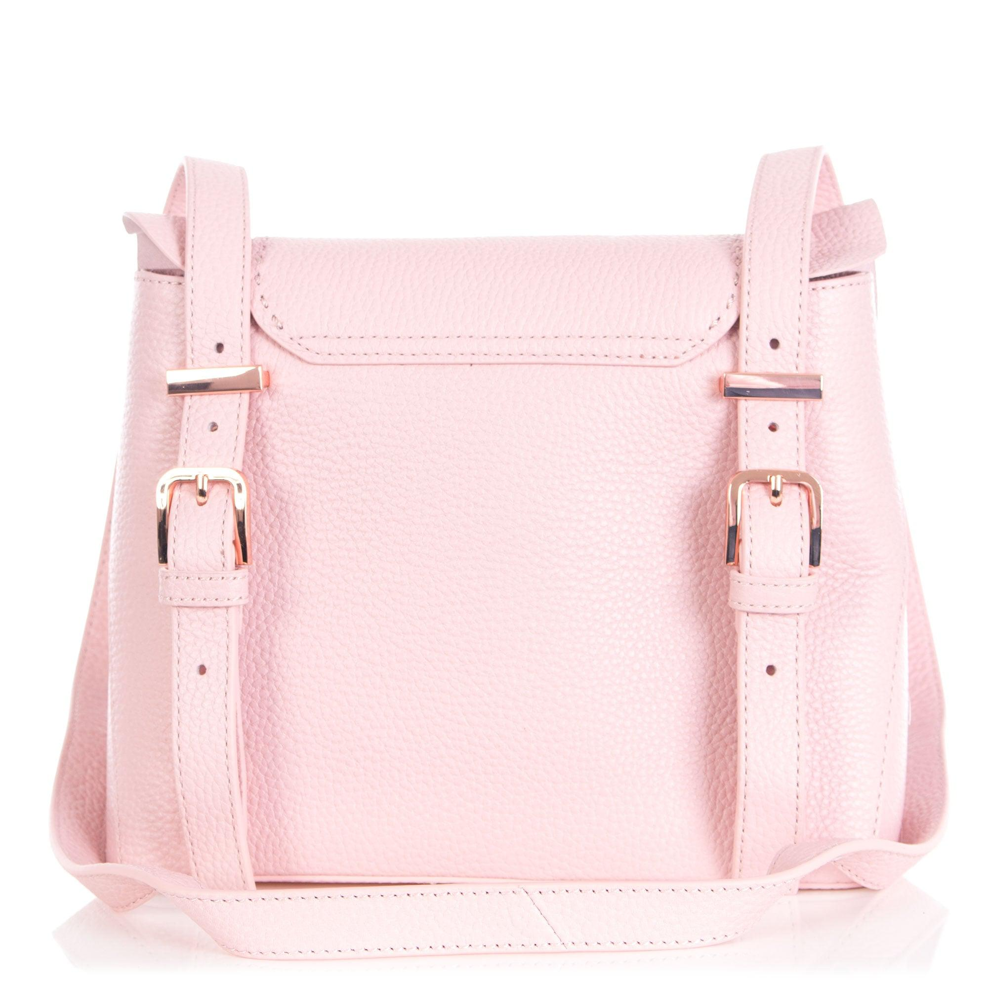 9892a7382 Ted Baker Rammira Leather Ruffle Multiway Backpack in Pink - Lyst