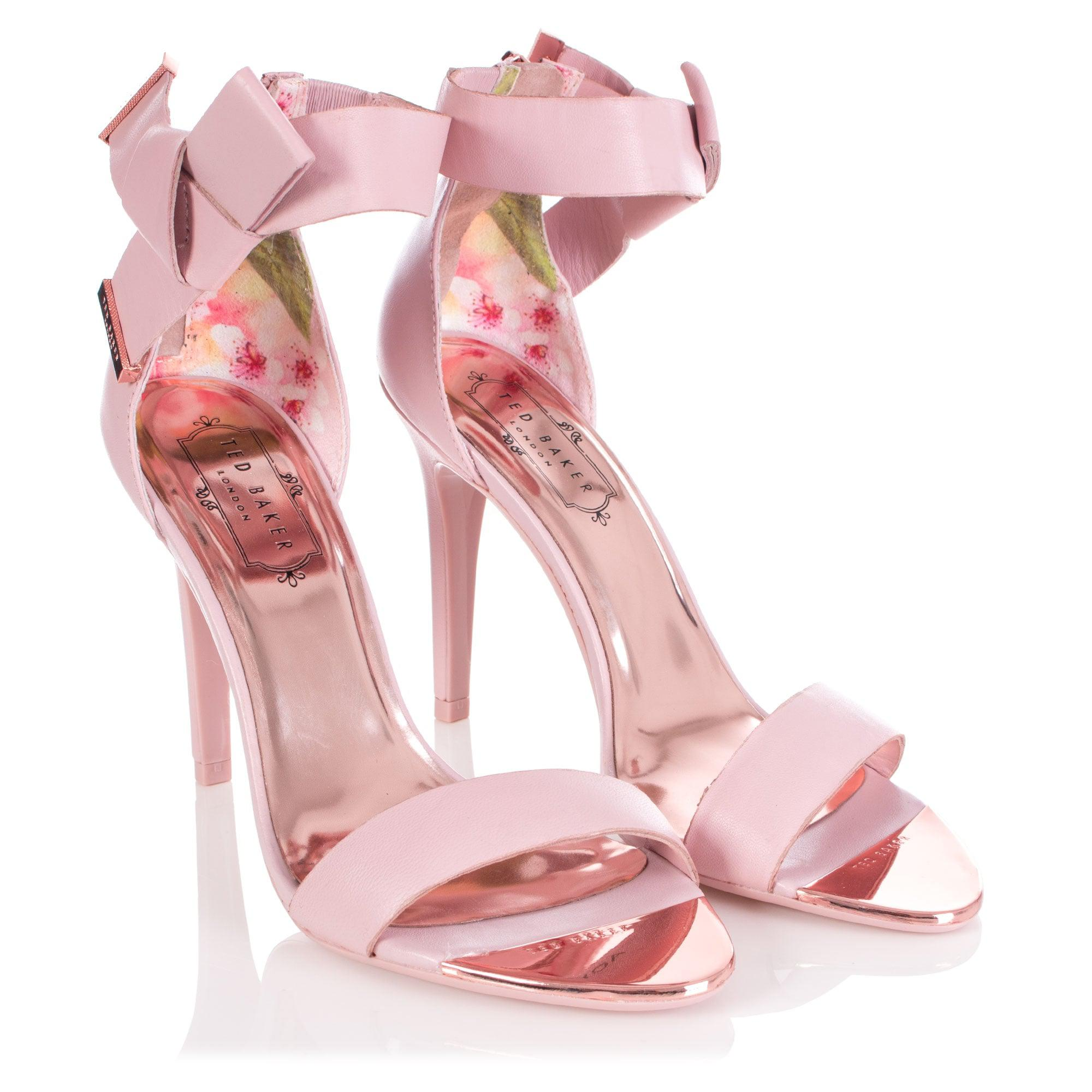 017062d1020daf Ted Baker Saphrun Knotted Bow Leather Sandal in Pink - Lyst