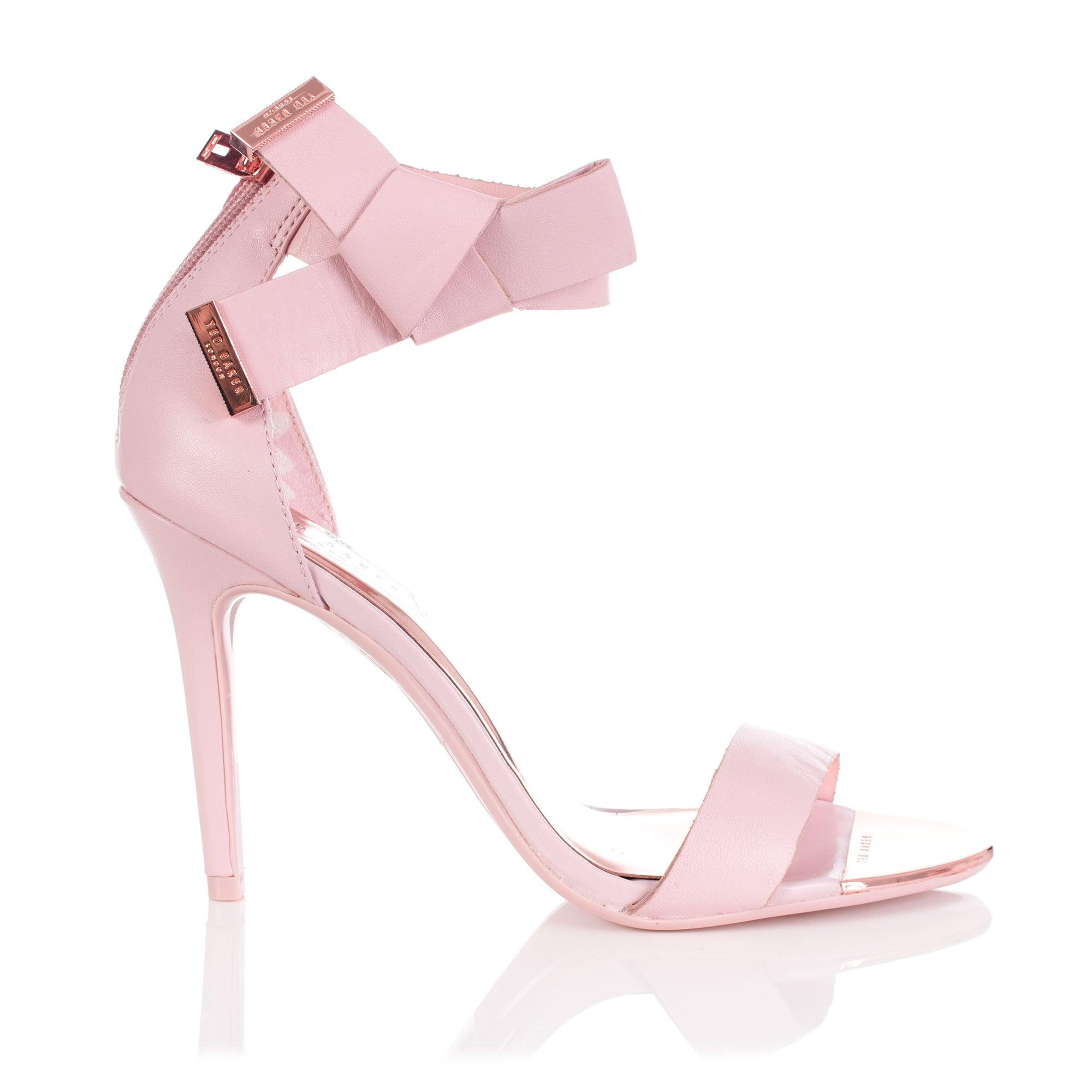 8ef70b7f880e2e Ted Baker Saphrun Knotted Bow Leather Sandal in Pink - Lyst