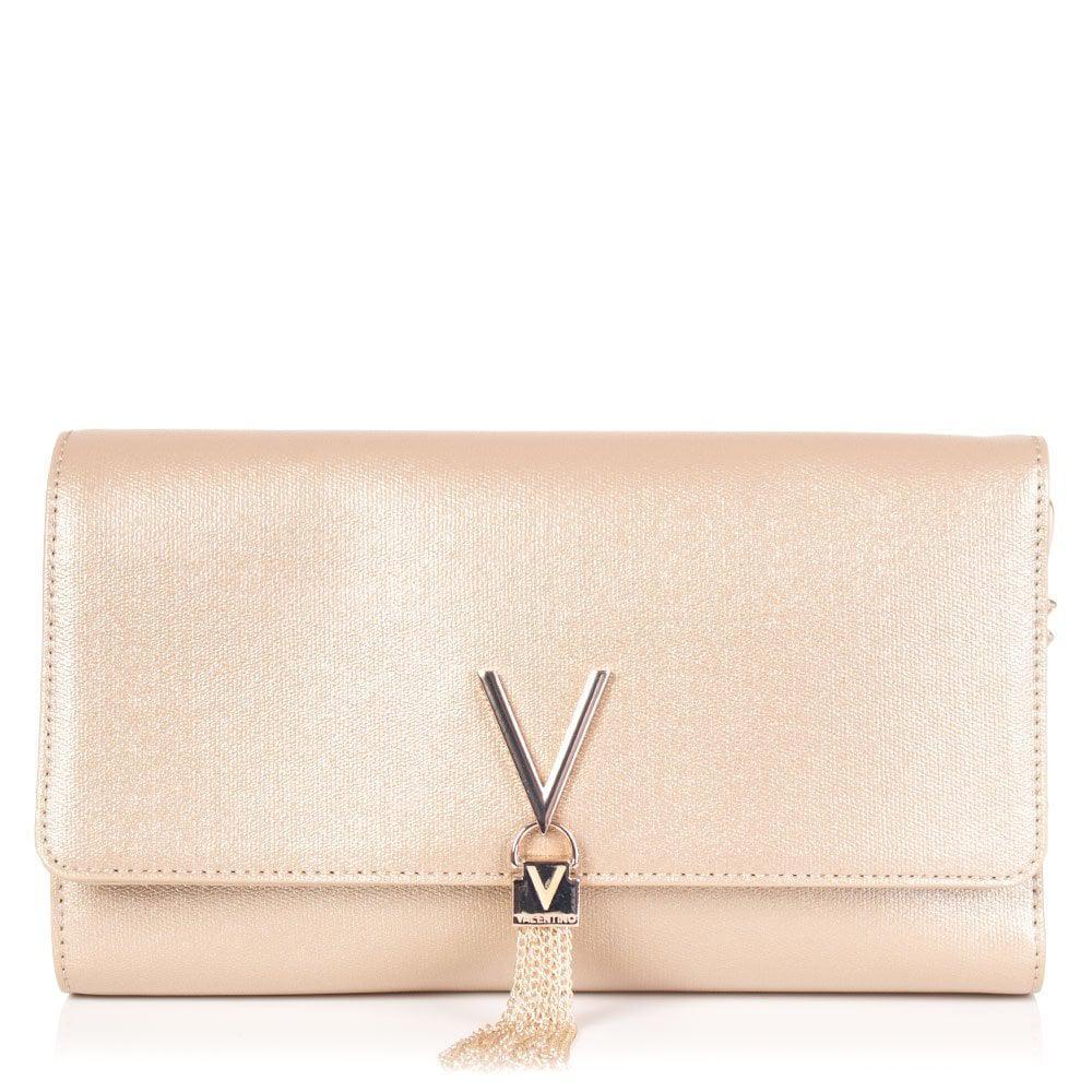 Valentino Marilyn Metallic Clutch in Metallic - Lyst 28a6bad5b1a3e