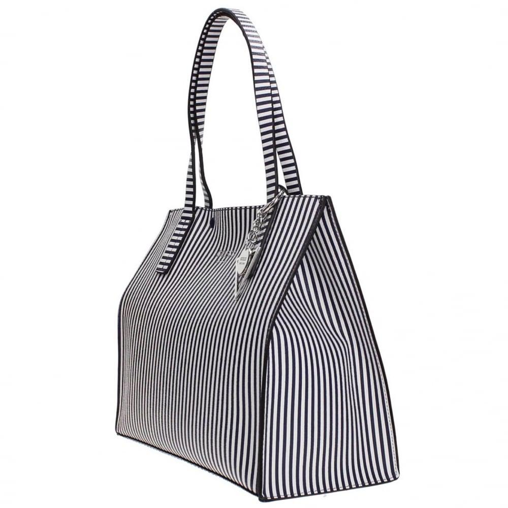 309236ca88 Guess Kinley Shoulder Bag In Black Lyst. Guess Arianna Striped Medium Grab  Bag Black Stripe Mcelhinneys