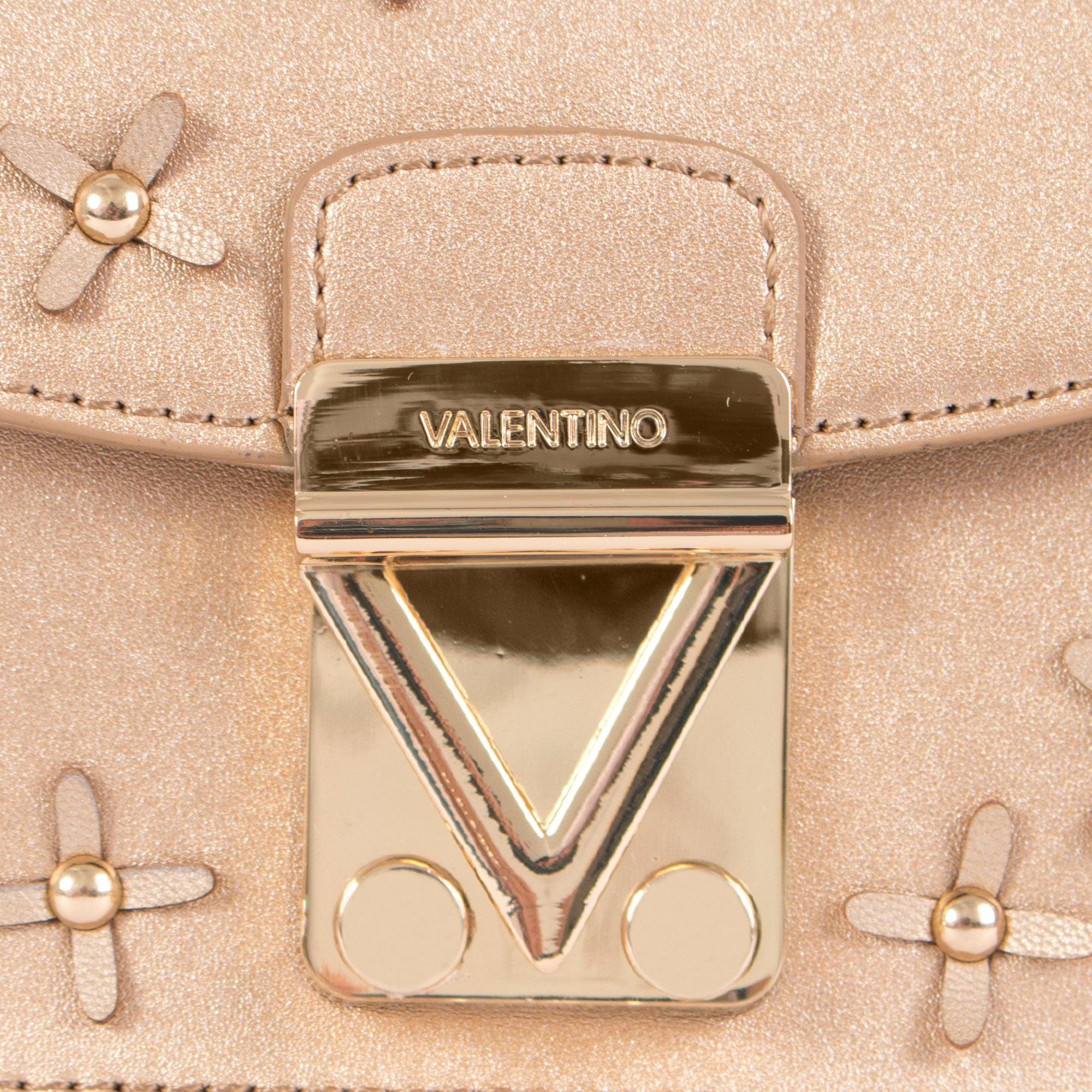 02f6a570fe Valentino Dinghy Flower Detail Clutch in Metallic - Lyst