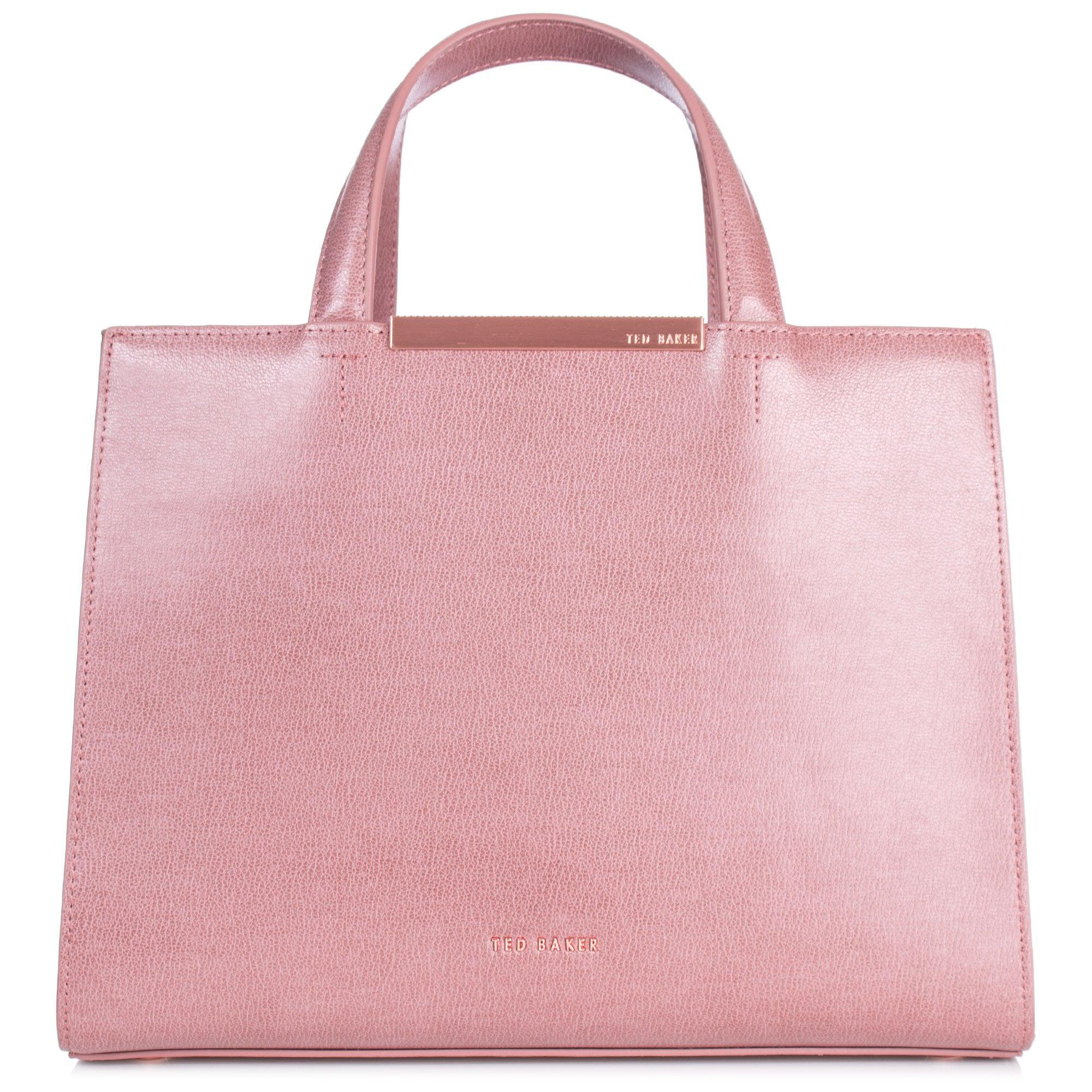 7dcc9bf243beb Ted Baker Madalyn Leather Tote in Pink - Lyst