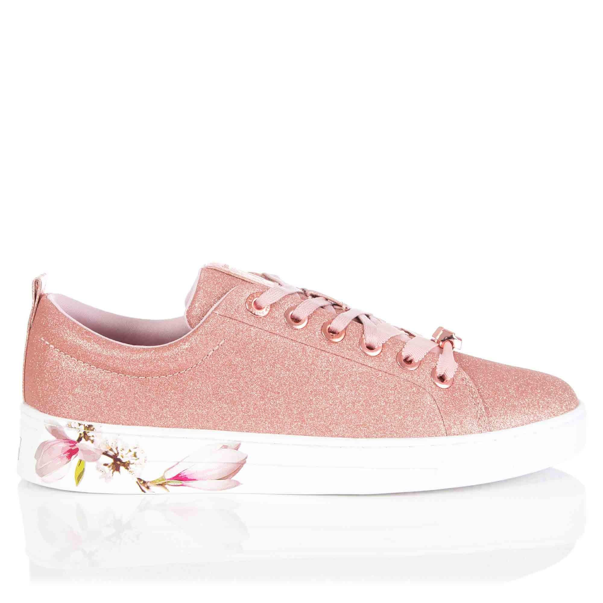e555d8a8e Ted Baker Kelleit Harmony Sneaker In Rose Gold in Pink - Lyst