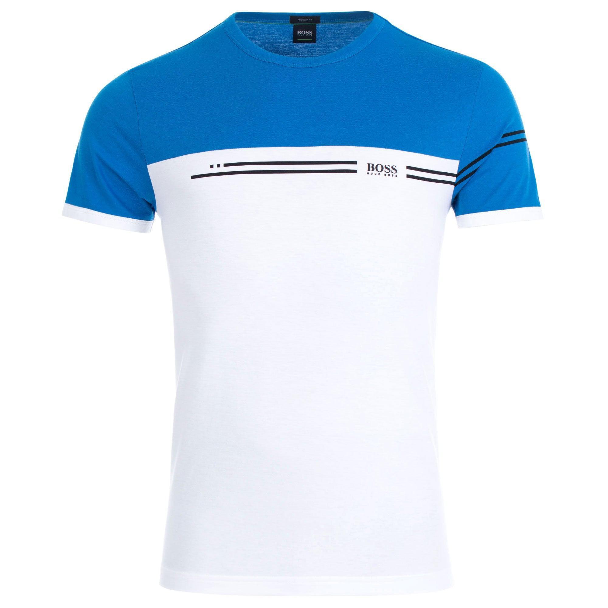 22798a9b8 BOSS Athleisure Colour Block Logo T-shirt in Blue for Men - Lyst