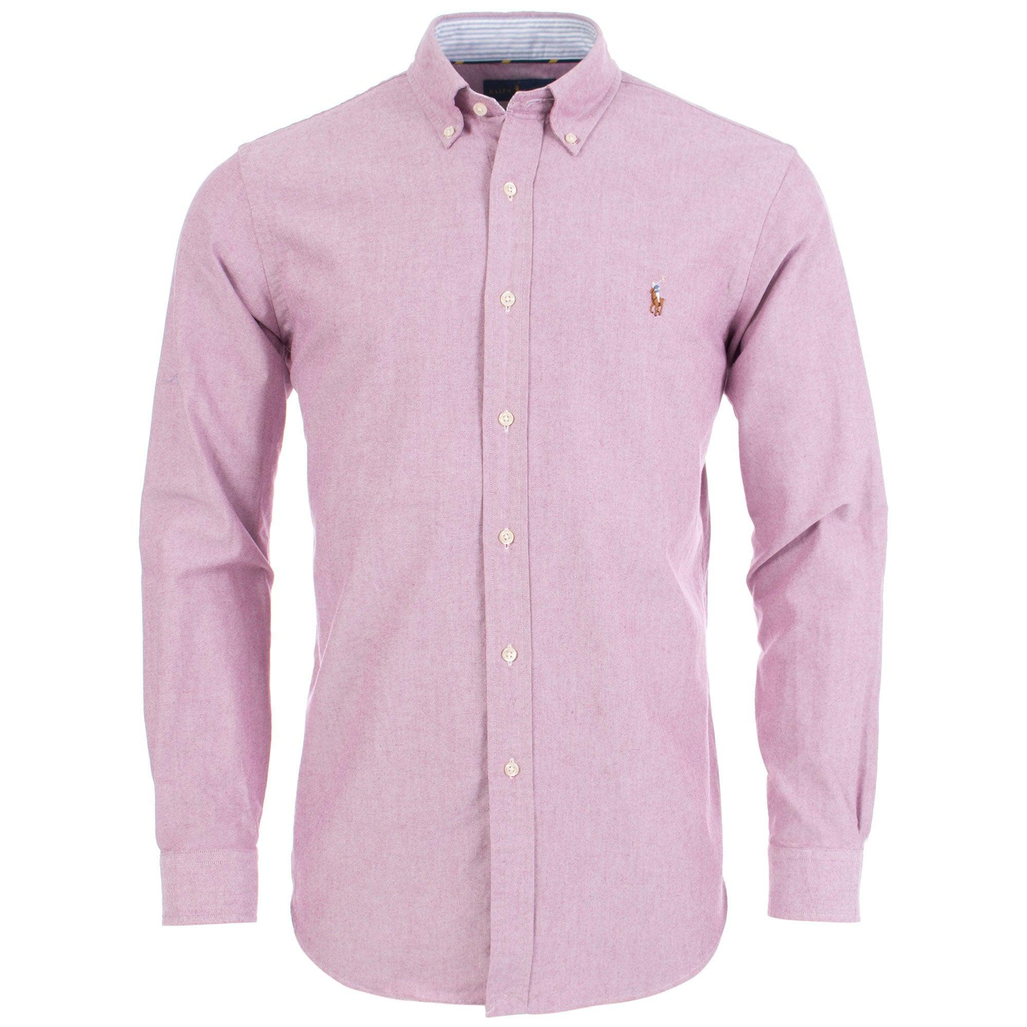 148d8151f4c9e2 Ralph Lauren Classic Fit Oxford Shirt in Red for Men - Lyst
