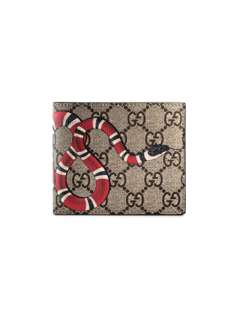 44b13aff76f7 Gucci Gg Supreme Kingsnake Bi Fold Wallet for Men - Save 18% - Lyst