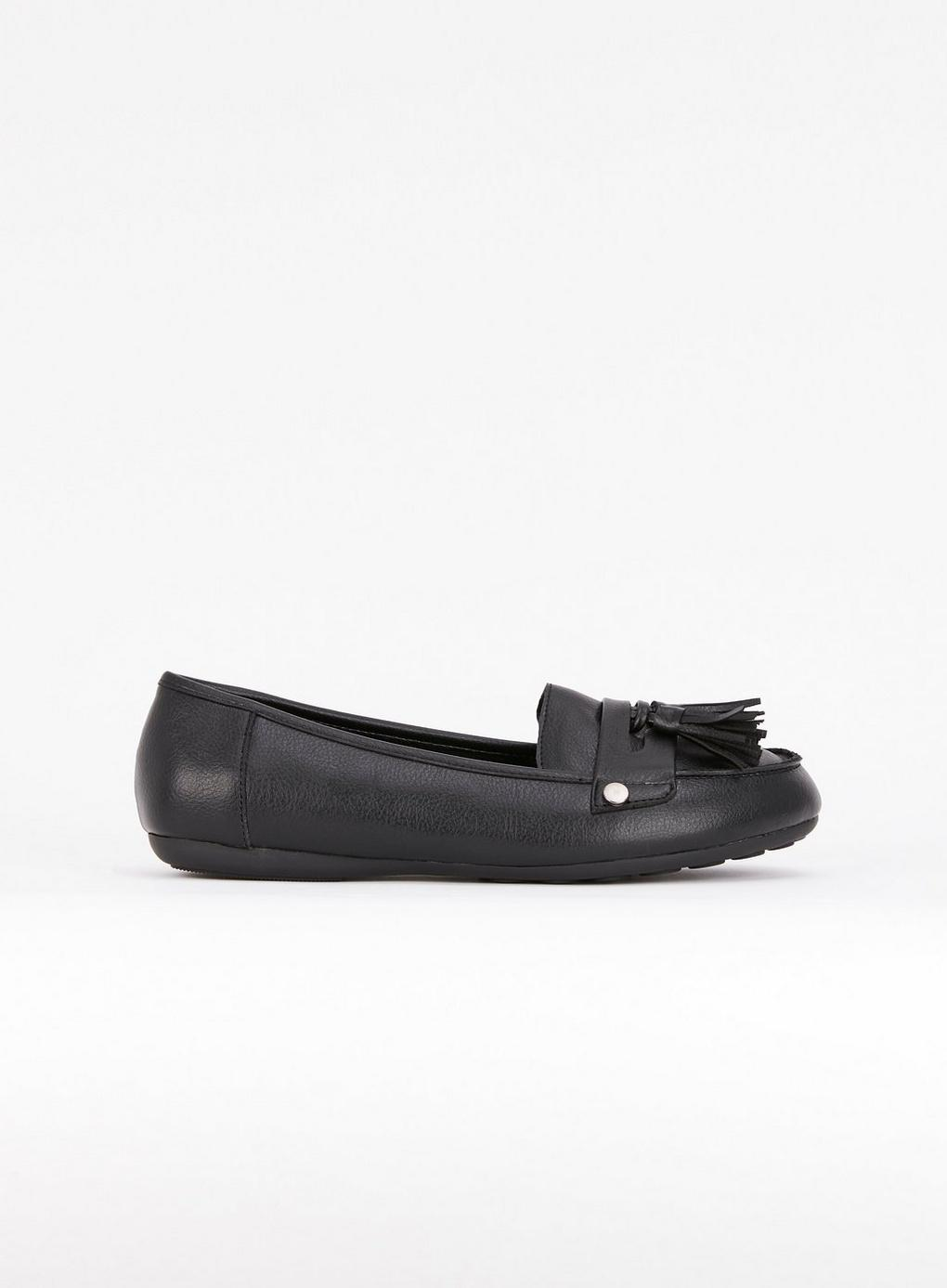 54c9fe78ad9 Evans - Extra Wide Fit Black Soft Tassel Loafers - Lyst. View fullscreen