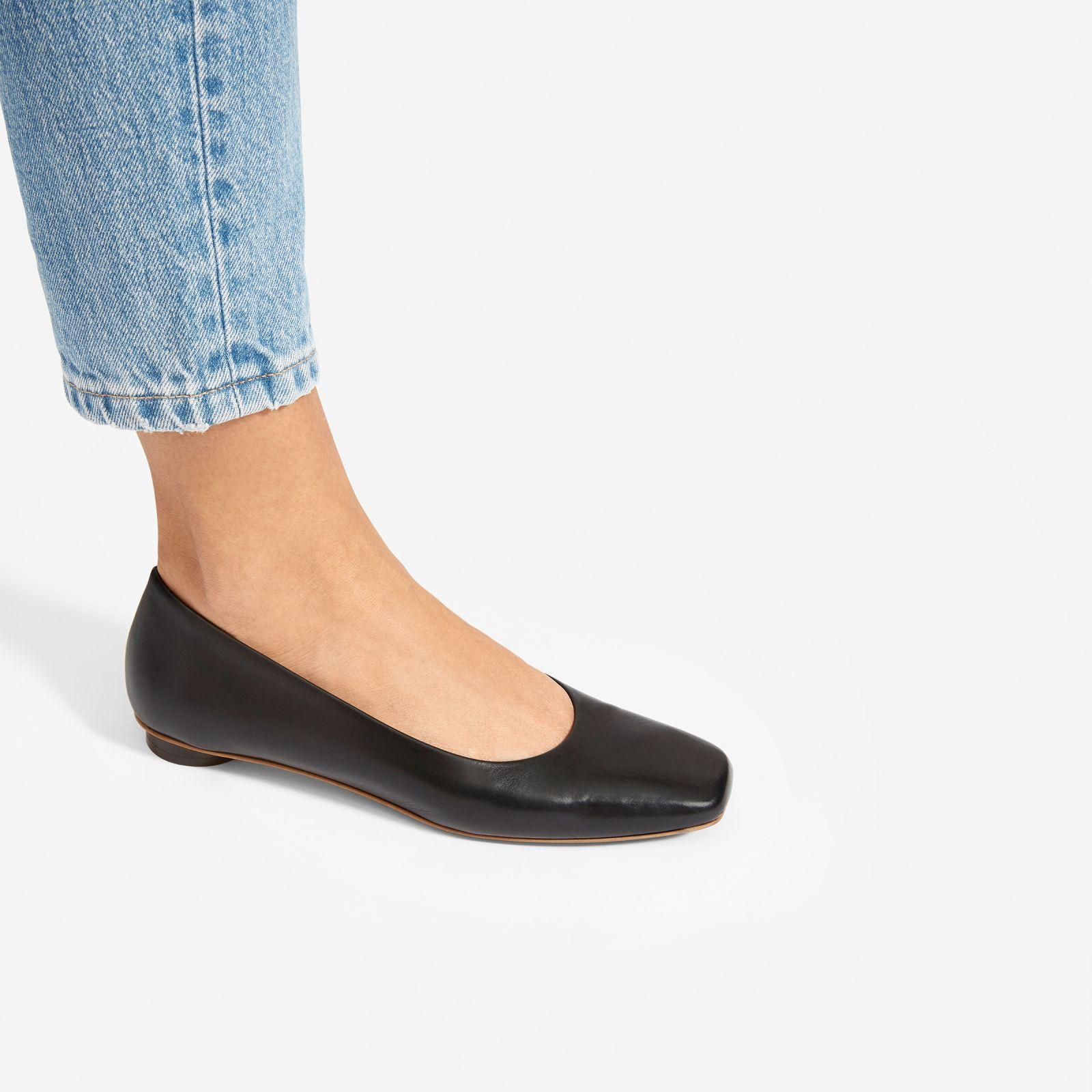8090a89b900 Everlane - Black The Square Toe Flat - Lyst. View fullscreen