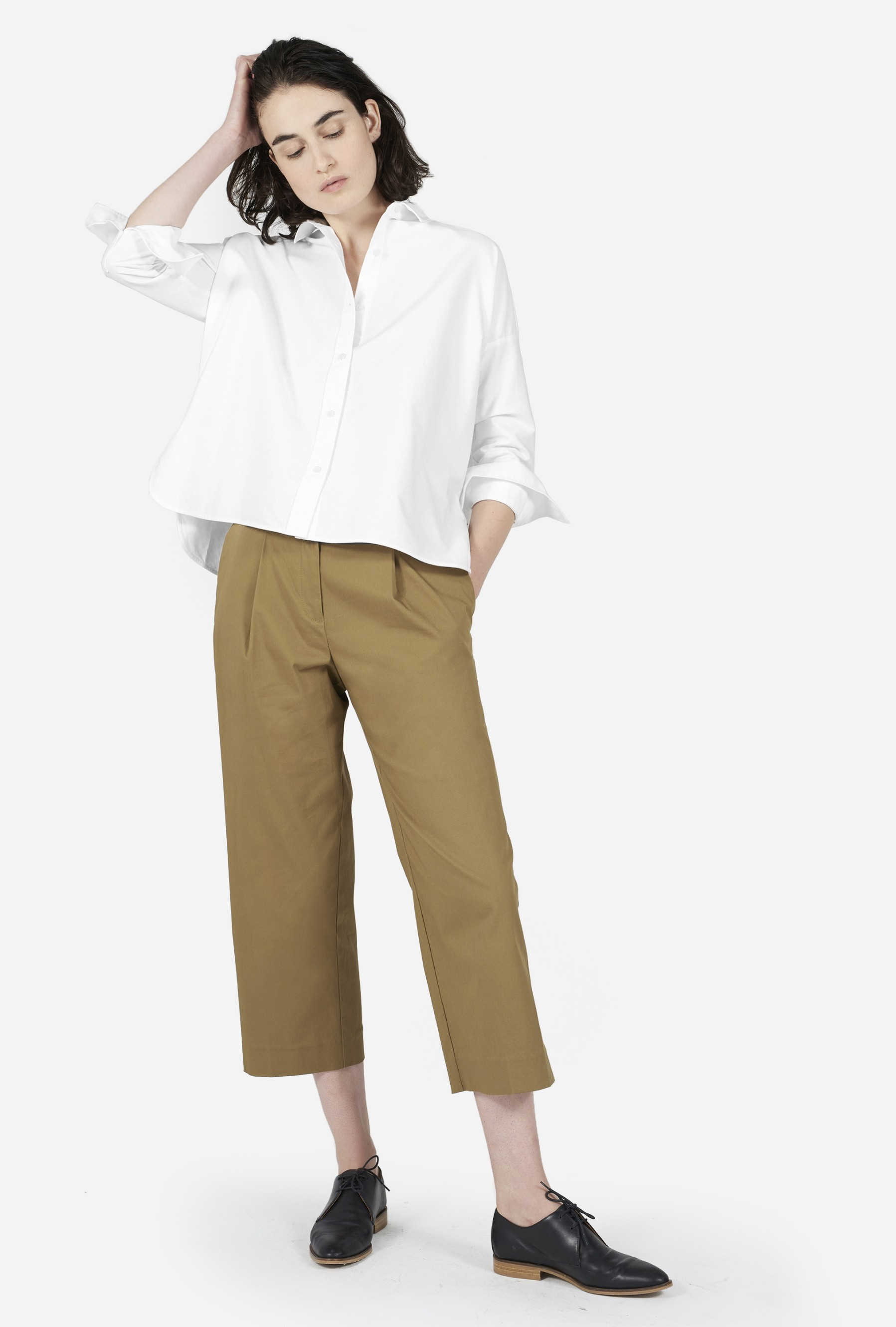 Everlane The Japanese Oxford Square Shirt In White Lyst