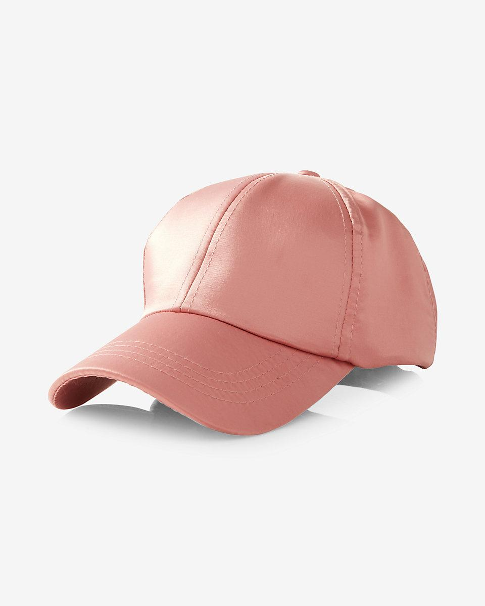 314d3f581f7 Express Satin Baseball Hat in Pink - Lyst