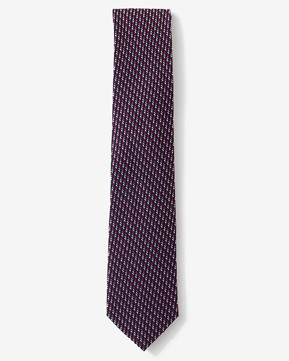 express narrow micro print silk tie in pink for lyst