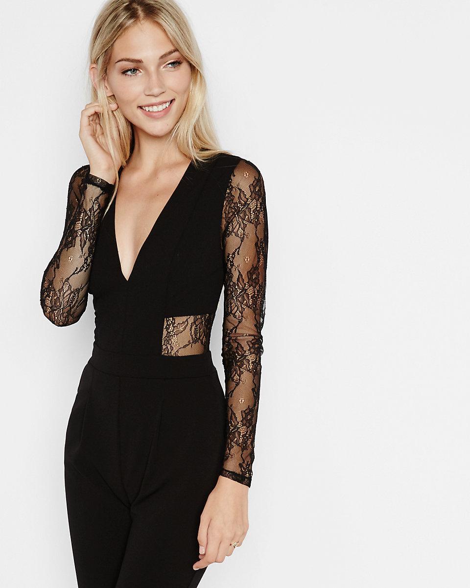ea01694cd0a Black lace rompers and jumpsuits jpg 960x1201 Black lace dressy jumpsuit