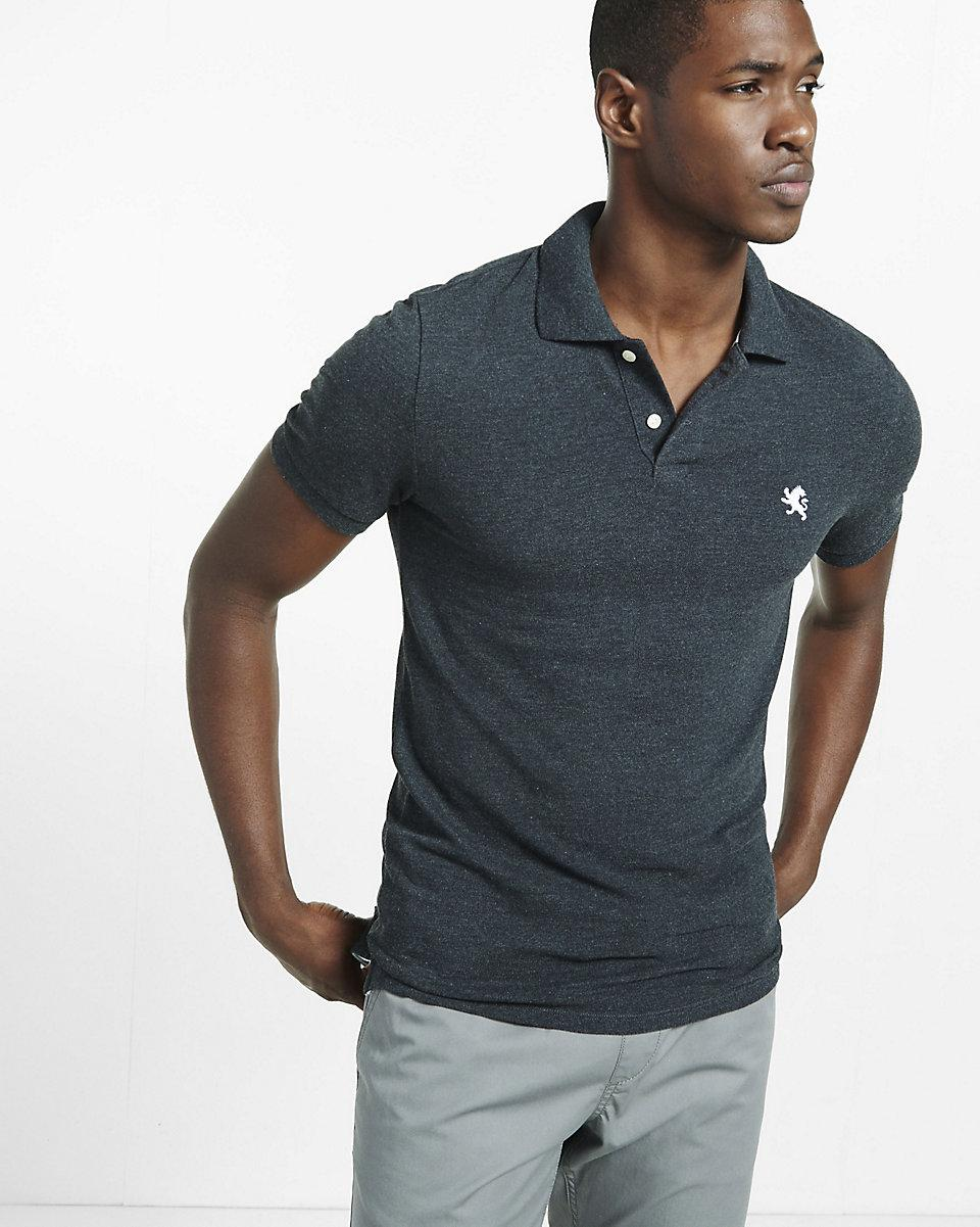 Lyst Express Fitted Small Lion Pique Polo For Men
