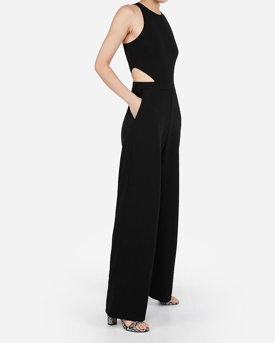 Express Cut Out Side Jumpsuit Black Lyst