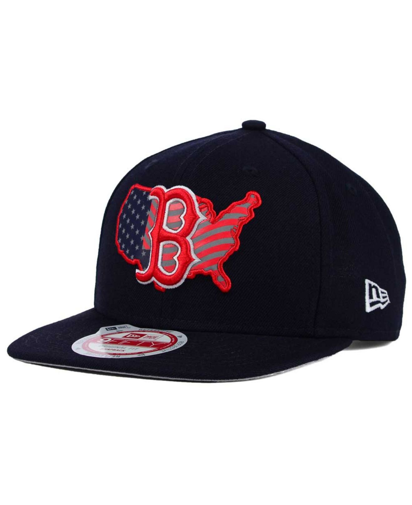 new arrival 2431f 7f018 ... release date lyst ktz boston red sox usa reflective 9fifty snapback cap  in blue f0dae 75883