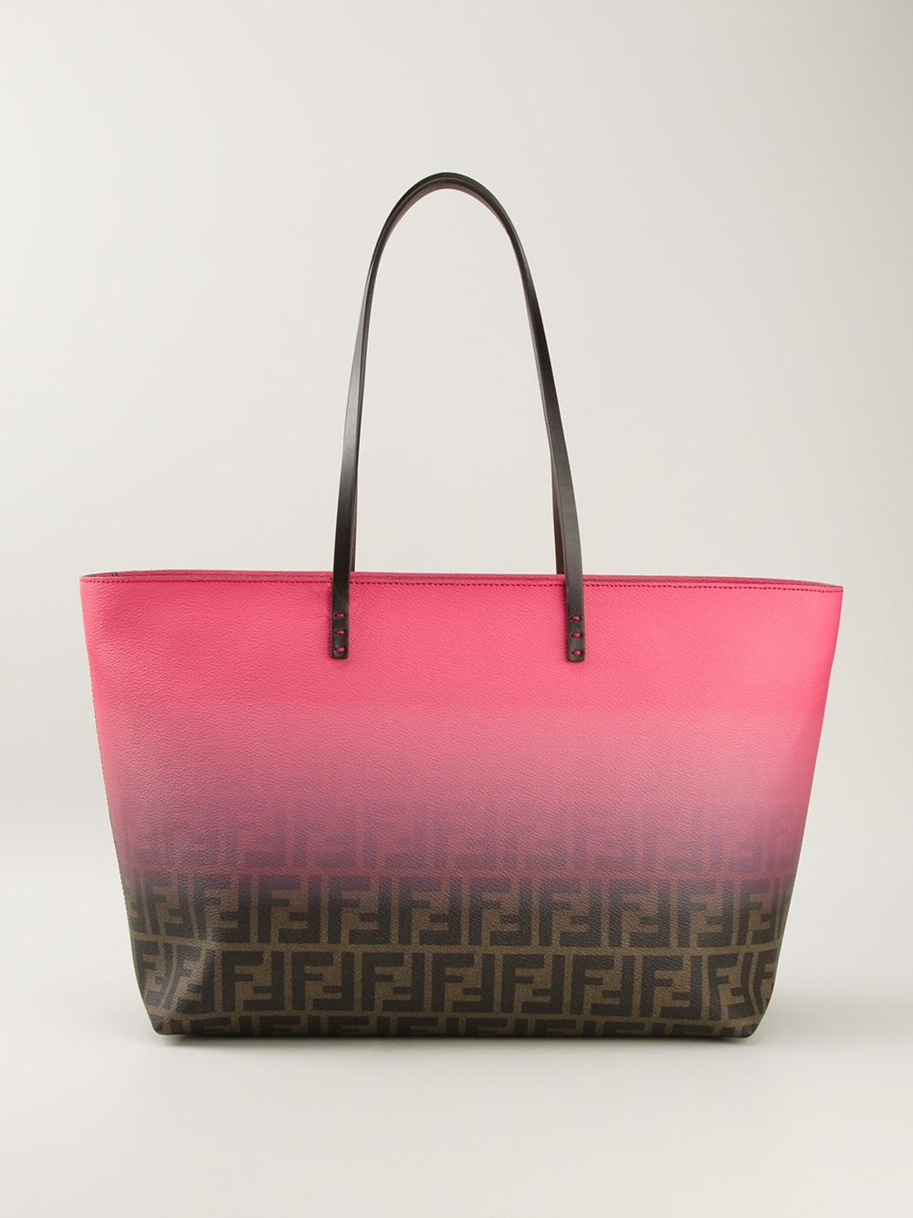Lyst - Fendi Zucca Shopper Tote in Pink