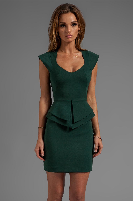 Lyst Black Halo Giovanni Mini Dress In Dark Green In Green